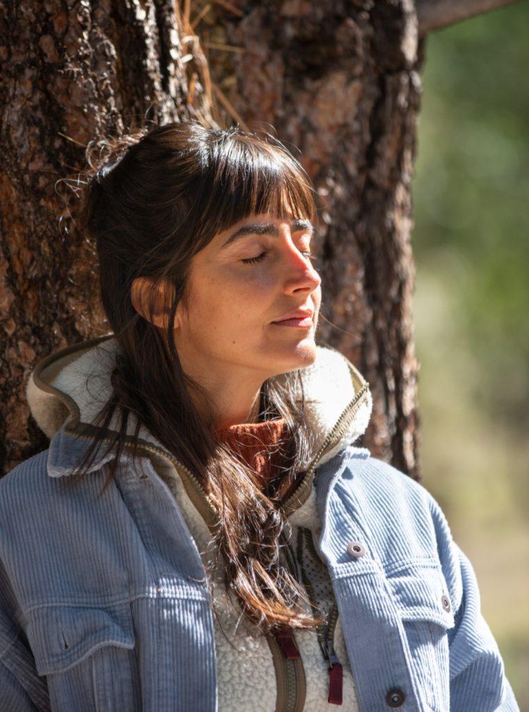 girl-meditating-in-forest