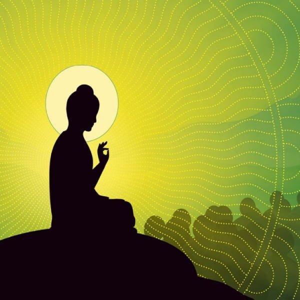 Buddha-green-background