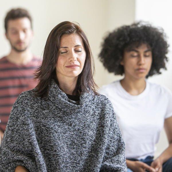 Group of meditator